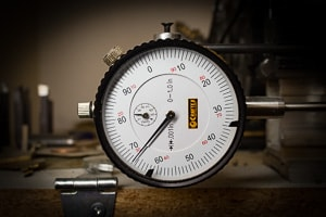 A machinists dial indicator