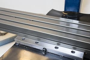 A benchtop cnc mill table