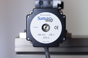 A cnc machine stepper motor
