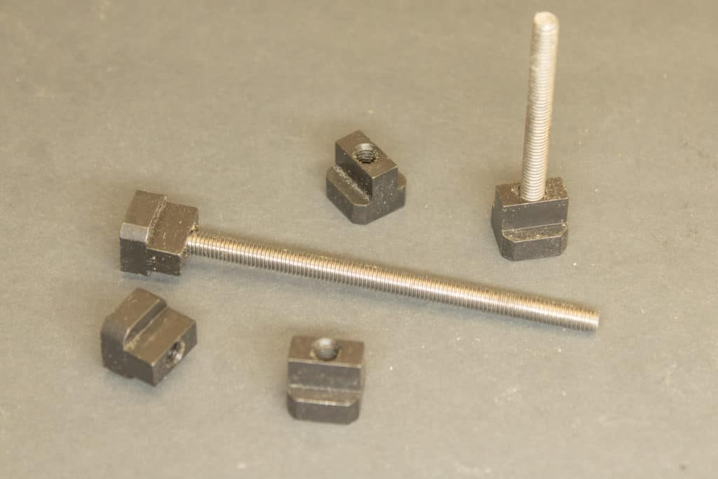 t-nuts and clamp studs