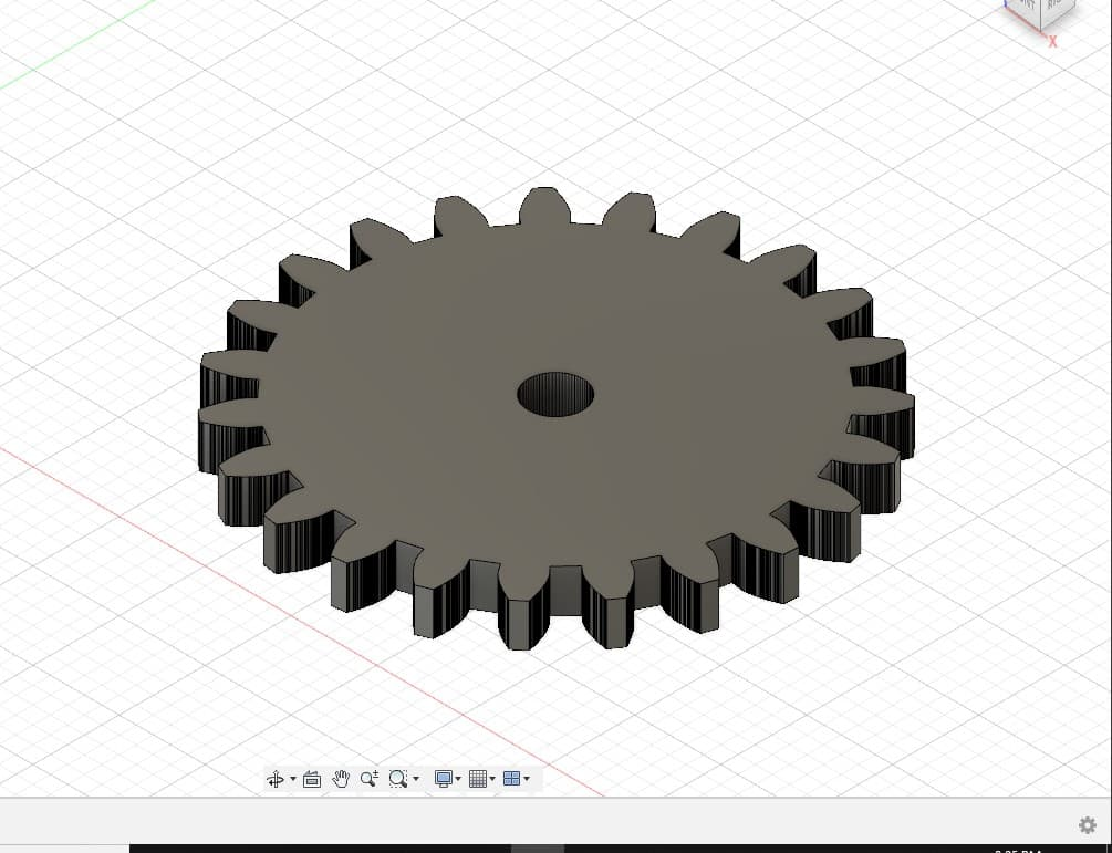 solid gear in fusion 360