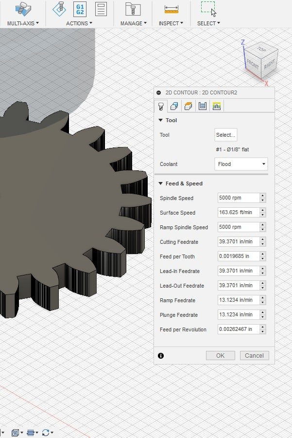 contour selection in fusion 360
