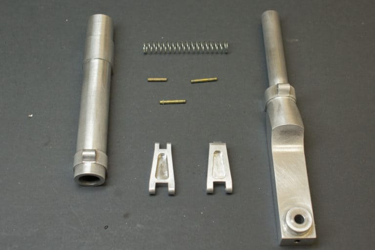 scale landing gear legs disassembled