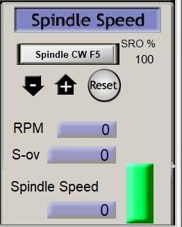 mach3 spindle speed screen