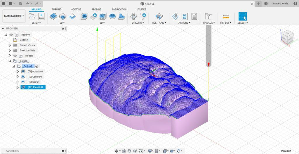 parallel finishing toolpath