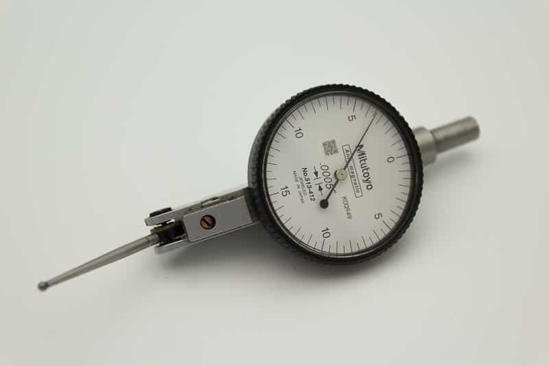 A mitutoyo dial test indicator