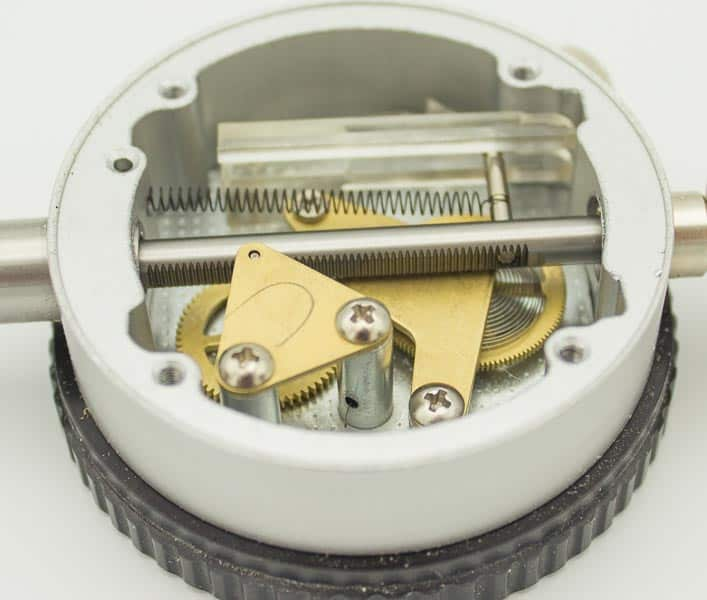 a dial indicator rack and pinion