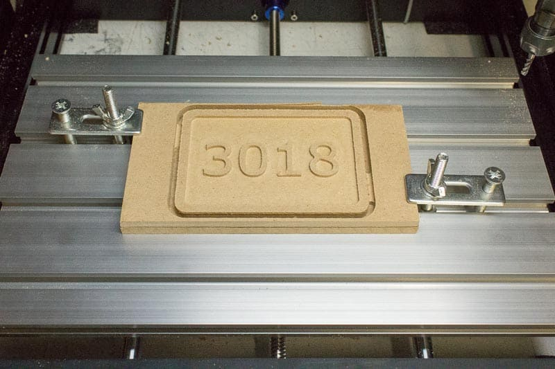 The project on the 3018 cnc engraver