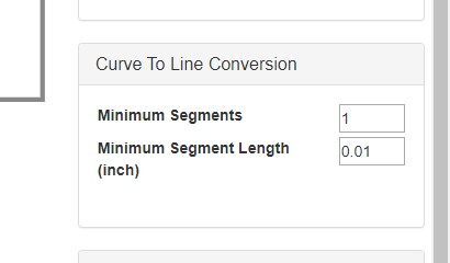 curve to line conversion options in JSCut