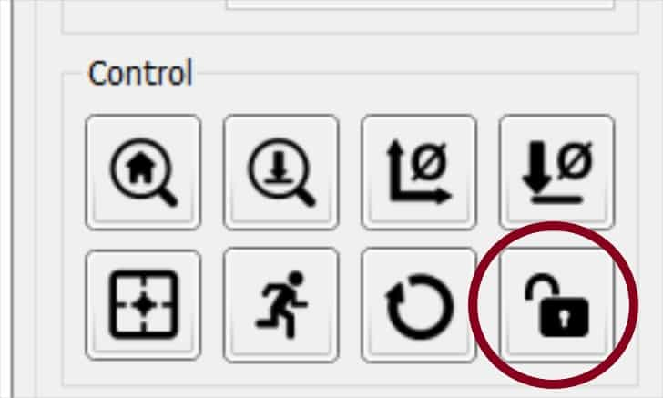 candle unlock button