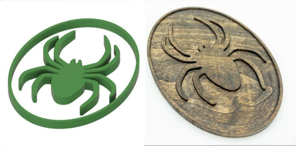 digital and wood spider