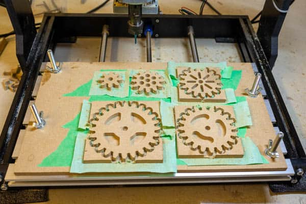 spur gears being machined
