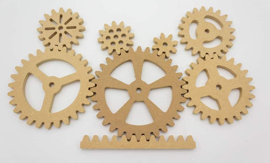 a set of spur gears