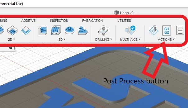 Click this drop down for the post process function