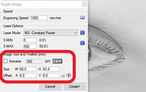 image size options