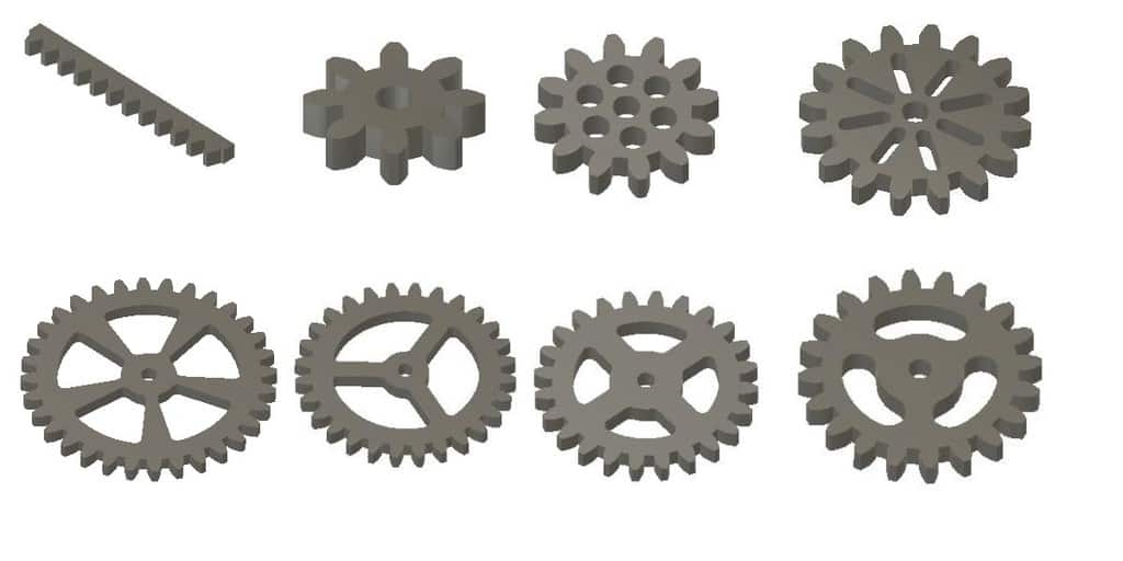 all the stl spur gears